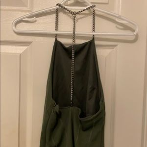 Topshop Dresses - Army Green Dress with Chain